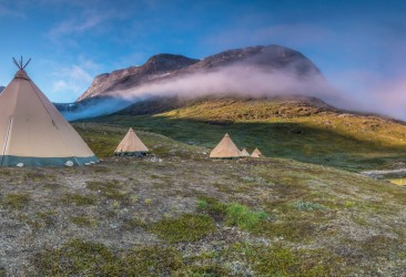Camp Kiattua and the Inuit-inspired Tipi style tents